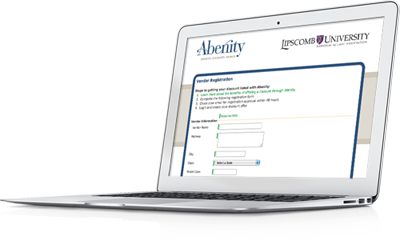 Abenity Employee Discount Program Branded Vendor Registration Page