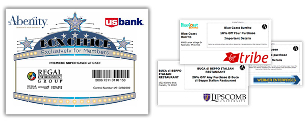 Branded eTickets & Coupons