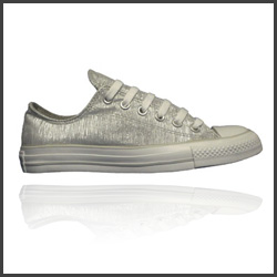 Chuck Taylor Silver Sneakers Discount