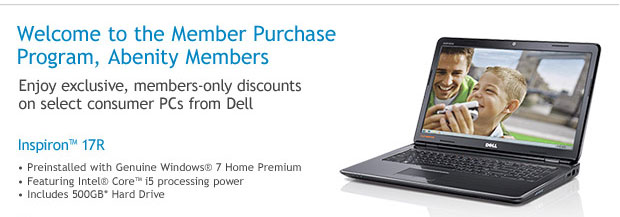 Enjoy exclusive member only discounts on select consumer PCs from Dell
