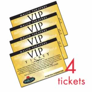 Malco Theatres: 4-pack of Unrestricted VIP Movie Tickets