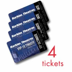 Harkins Theatres: 4-Pack of Unrestricted Ultimate VIP Movie Tickets