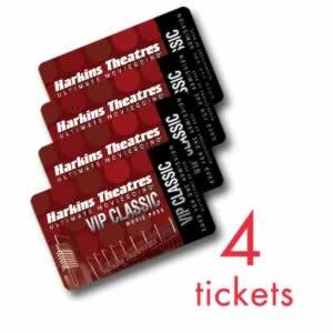 Harkins Theatres: 4-Pack of Restricted Classic VIP Discount Movie Tickets