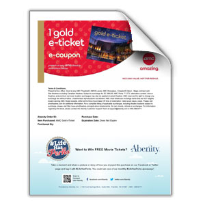 photograph about Amc Printable Tickets identify Abenity Keep - Solution: AMC® Gold eTicket (No Limitations*)